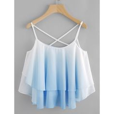 Ombre Crisscross Layered Swing Cami Top -SheIn(abaday) - Ombre Crisscross Layered Swing Cami Top -SheIn(abaday) Source by - Girls Fashion Clothes, Teen Fashion Outfits, Cute Fashion, Outfits For Teens, Girl Fashion, Fashion Dresses, Fashion Styles, Fashion 2018, Cute Comfy Outfits