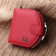Women Genuine Leather Coin Bag Patent Leather Wallet