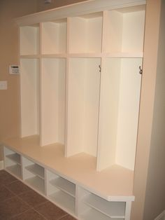 Transition / Mud Room, Custom-Built Coat Storage, Cubby Holes; Indianapolis, Indiana - Madison Custom Homes Inc.