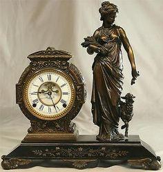 1882 CLOCK NICHOLAS MUELLER'S SONS --ROCOCO STYLE