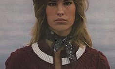 Scarves were worn by most women in the 1970s. They were worn as head, neck, and even waist scarves. They were very decorative. Like other accessories of the 70s, scarves could be knitted or crotched at home!