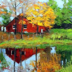 Barn Reflections https://www.rogergoodefineart.com/paintings/barn-reflections - Available for sale now