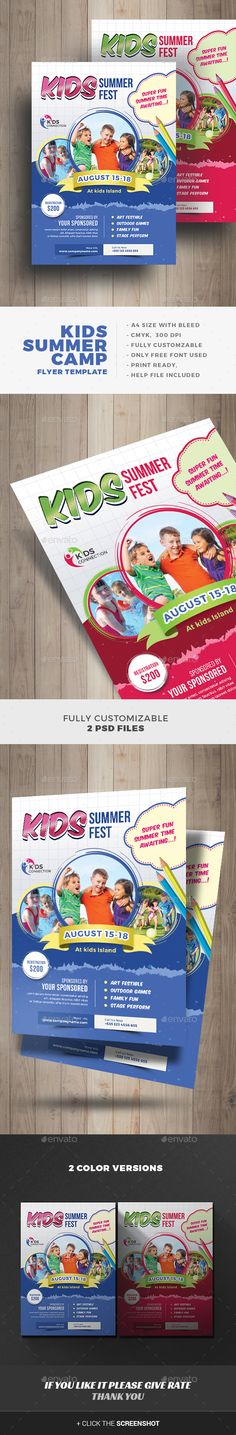 Buy Kids Summer Camp Flyer by on GraphicRiver. This Kids Summer Camp Flyer Template, can be used for promote your Kids Summer Activity, Junior School, Play Group, e. Summer Camps For Kids, Summer Activities For Kids, Camping With Kids, Summer Kids, Baby Design, 2d Design, Graphic Design, Design Ideas, Banner Shapes