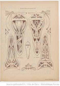 Cahiers d & # art application … Motifs Art Nouveau, Design Art Nouveau, Motif Art Deco, Art Nouveau Pattern, Bijoux Art Nouveau, Art Nouveau Jewelry, Wassily Kandinsky, Nouveau Tattoo, Illustration Art Nouveau