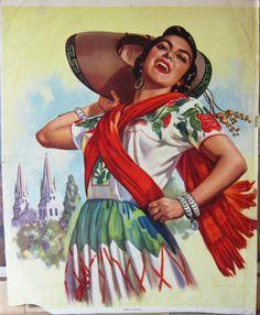 vintage art méxico. on Pinterest | Mexicans, Calendar and Mexico