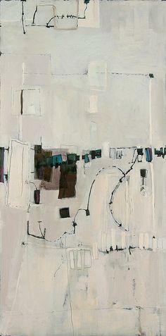 "anne-laure djaballah: whiteout, 48""x24"", oil on panel, 2005."