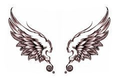 Download Free Cute Angel Wing Tattoo Designs to use and take to your artist.