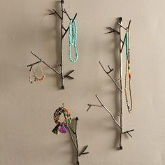 Bungalow Rose Hang jewelry, keys and more on these charming, Metal Twig 3 Piece Wall Hook Set. Perfect for adding a handy and nature-inspired accent to your walls wherever you need them. Crafted in Honduras Jewelry Hanger, Hanging Jewelry, Jewelry Storage, Jewelry Box, Jewlery, Home Decor Accessories, Other Accessories, Wall Mounted Key Holder, Scotts Valley