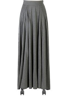 I <3 this The leanear pleats skirt from eShakti