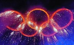 the glorious Olympic rings