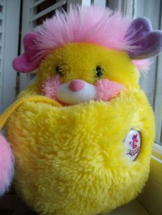 i had a purple one of these!      Vintage 1986 Yellow and Pink Popple by AllThatsLeftYou on Etsy, $15.00