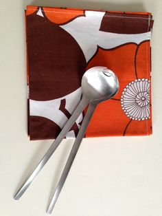Vintage SALAD CUTLERY | Stainless Steel | Mid Century | Made in Japan by BrocanteBedStuy on Etsy