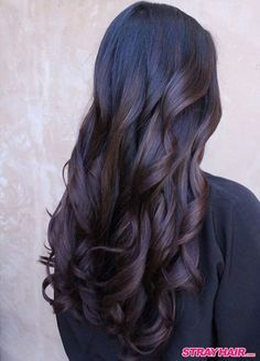 rich chocolate balayage for naturally dark hair