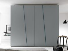 Sectional lacquered wardrobe with sliding doors DIAGONAL by Presotto Industrie Mobili design Pierangelo Sciuto Cabinet Door Designs, Bedroom Cupboard Designs, Wardrobe Design Bedroom, Bedroom Cupboards, Modern Wardrobe, Wardrobe Closet, Built In Wardrobe, Wardrobe Images, Sliding Wardrobe Doors
