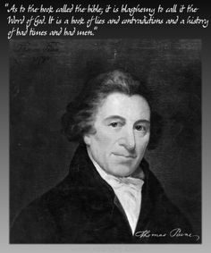 Founding Father, Thomas Paine, on the bible...
