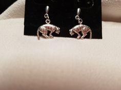 silver leopard earrings Silver Jewellery, Jewelry, Ebay, Drop Earrings, Watches, Jewlery, Jewerly, Schmuck, Drop Earring
