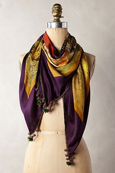 Silk Pom Scarf - anthropologie.com