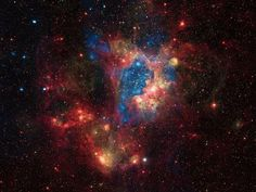A Surprisingly Bright Super-bubble in the Large Magellanic Cloud (LMC), a small satellite galaxy of the Milky Way located about 160,000 light years from Earth.