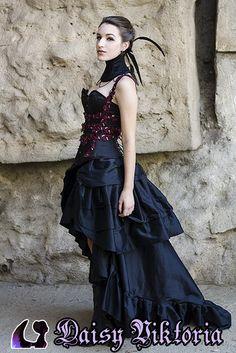 Gothic Raven Gown by DaisyViktoria.deviantart.com on @deviantART