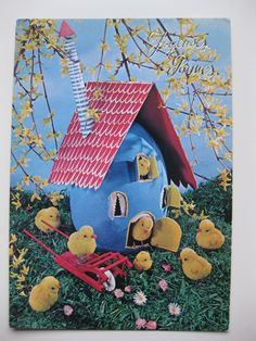 vintage French Easter postcard. Maybe to make what's in the picture.