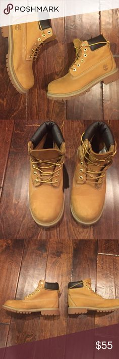 TIMS 👀 Wheat color slightly in the best condition used one time too small Timberland Shoes Boots