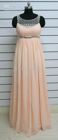 Wholesale 2013 New arrival Empire waist Ruffle Sparkly Beaded Chiffon Floor length Scoop Plus size Prom dress, Free shipping, $156.8-162.4/Piece   DHgate: