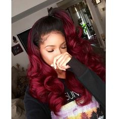 Love love love #hair#red#wave#beauty