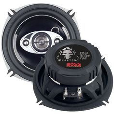 """Boss Audio Systems P55.4C Phantom Series Speakers with Electroplate-Injection Cones (5.25"""")"""