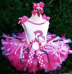 A personal favorite from my Etsy shop https://www.etsy.com/listing/235895970/hello-kitty-birthday-petti-tutu-set-over