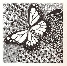 zentangle butterfly doodle butterflies zentangles drawings flickr patterns coloring zen doodles pages drawing doodling pattern artwork banar pencil prints wall