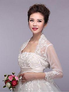 Wedding / Party/Evening Lace / Tulle Shrugs Half-Sleeve Wedding  Wraps – USD $ 40.00