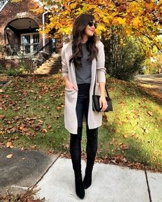 fall afternoons in the neighborhood  Love this soft cardigan with pockets and these OTK boots (get outfit details by clicking the link in my bio) David just walked in with TCBY and I've never loved him more haha.. thinking it's a curl up on the couch and watch a movie kind of afternoon  Do y'all have any movie suggestions? #liketkit @liketoknow.it http://liketk.it/2tmg6