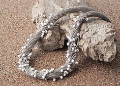 Linen Cord Necklace Linen Fiber-use less cord and crystals...