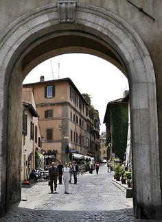 Porta Settimiana - Trastevere, Rome   by © William Kimber