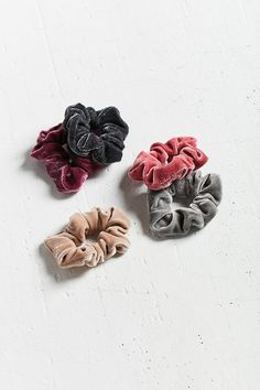 Velvet Hair Scrunchy Set http://www.urbanoutfitters.com/urban/catalog/productdetail.jsp?id=37867181&color=066 #urban_style_hair