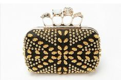 2013 Fashion Punk Style Hand Bag Clutch Bag Skull Rivet. Upscale Evening Bag  Banquet Bag 2 Colors wholesale Free Shipping 018