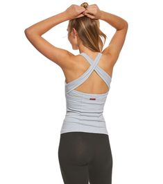 bd3375c11c403 The Hard Tail Open Back Support Tank Tops is a necessity for your yoga  wardrobe. The high neck gives you full coverage nbsp while the tank style  and cross ...