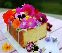 floral lemon spongecake