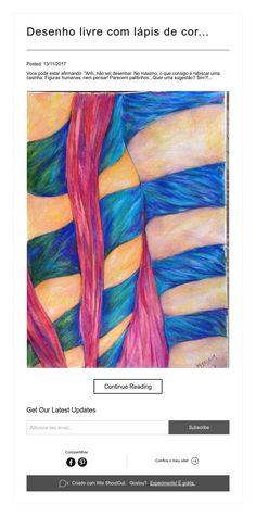 Desenho livre com lápis de cor...