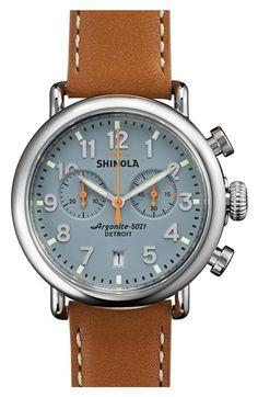 daa2362e6a4 Shinola  The Runwell Chrono  Leather Strap Watch
