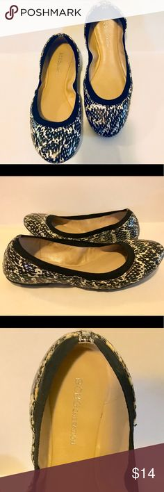 BCBGeneration Moneli Reptile Ballet Flat- 6 Great Condition.  Faux reptile-embossed suede upper. Elastic topline. Round toe. Flexible rubber sole. Insole is cushioned. Pet and Smoke Free home. Offers considered 🤗 BCBGeneration Shoes Flats & Loafers
