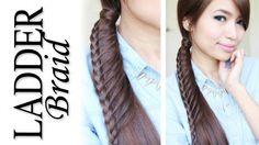 Merdiven Örgü Atkuyruğu Saç Modeli Yapımı - Özel günler için veya günlük evde yapabileceğiniz merdiven örgü atkuyruğu saç modeli tekniği (Ladder Braid Ponytail Hairstyle For Medium Long Hair Tutorial Video)
