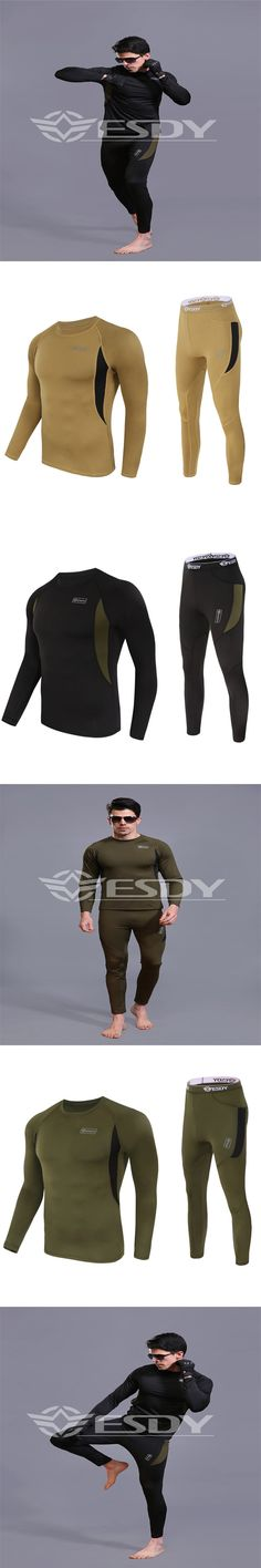 New tactical thermal underwear brand New 2016 winter quick dry antibacterial stretching warm underwear set free shipping