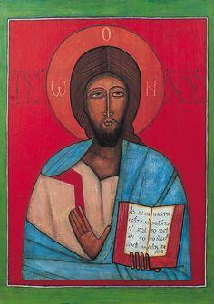 Jerzy Nowosielski   Icon, 1958   oil on board.