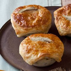 Mini Chicken Pot Pies    This classic comfort food is perfect for using up chicken leftovers. With egg whites, reduced-fat milk, and a small amount of butter, it has just half the fat and sodium of frozen varieties. And it's ready in less than 40 minutes!