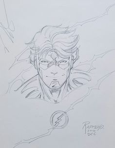 Wally West by Norm Rapmund at Denver Comic Con! Comic Book Artists, Comic Books Art, Comic Art, Wally West, Nightwing, Teen Titans Drawings, Pencil Drawings, Art Drawings, Superhero Sketches
