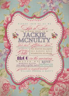 Kitchen Tea Invitation Vintage Rustic Bridal by digibuddhaPaperie, $20.00