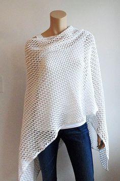Knit Ruana Pattern Free : Free Stuff: CROCHET PATTERN...Lace RUANA Crochet Wrap...EASY... - Listia.com ...