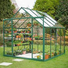 Winter Gardenz Glass Greenhouse, 8' Wide - Hobby Greenhouse Kits