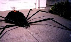 Step by step-Making a HUGE spider decoration